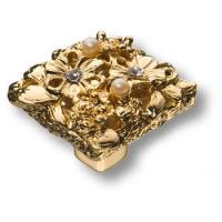"""20.35 MO19 Ручка кнопка""""Petit Bouquet"""" эксклюзивная коллекция, глянцевое золото 24K"""