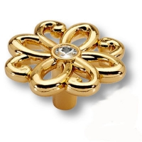 15.375.46 SWA 19 Ручка кнопка эксклюзивная коллекция, глянцевое золото 24K