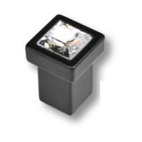 MT8135B-531E Ручка кнопка с кристаллом эксклюзивная коллекция, черный матовый