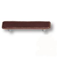 7034.0096.021.176 Ручка скоба эксклюзивная коллекция, коричневая кожа 96 мм