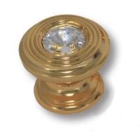 9952-100 Ручка кнопка с кристаллом Swarovski эксклюзивная коллекция, глянцевое золото