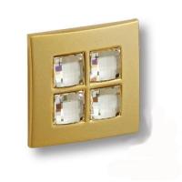 7164.0038.027 Ручка кнопка с кристаллами Swarovski эксклюзивная коллекция, матовое золото