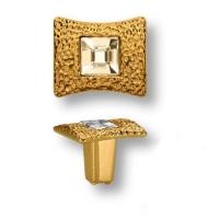 15.362.00.SWA.19 Ручка кнопка с кристаллом Swarovski эксклюзивная коллекция, глянцевое золото 24K
