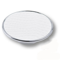 1026BL Ручка кнопка эксклюзивная коллекция, белая глянцевая кожа