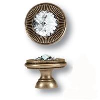 25.319.25.SWA.12 Ручка кнопка с кристаллом Swarovski эксклюзивная коллекция, античная бронза