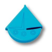 604AZ Ручка кнопка детская, кораблик синий