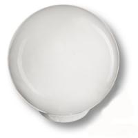 626BL Ручка кнопка детская коллекция , выполнена в форме шара, цвет белый глянцевый