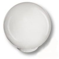 626BL1 Ручка кнопка детская коллекция , выполнена в форме шара, цвет белый глянцевый