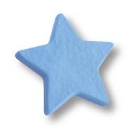 689AZ Ручка кнопка детская, звезда синяя