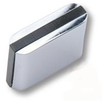 429025MP02PL16 Ручка кнопка модерн, глянцевый хром с черной вставкой