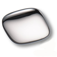 474032MP02 Ручка кнопка квадратная модерн, глянцевый хром 32 мм