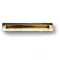 EMBU160-12 Ручка врезная современная классика, глянцевое золото 160 мм