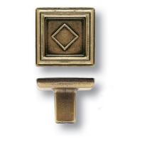 15.320.00.12 Ручка кнопка квадратная классика, античная бронза