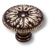 15.303.29.12 Ручка кнопка классика, античная бронза
