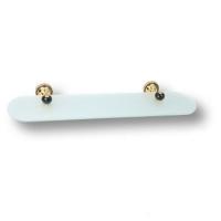 3511-71-320 Полка для ванных аксессуаров, латунь с чёрными кристаллами Swarovski, цвет-золото глянец