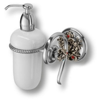 PV1608/K Дозатор для жидкого мыла, керамика, цвет - старое серебро