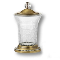 3505-75-013 Держатель для зуб.щеток, латунь с кристаллами Swarovski, цвет - старая бронза