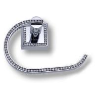 3514-75-005 Держатель для туалетной бумаги, латунь с кристаллами Swarovski, цвет - глянцевый хром