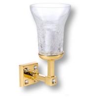 3502-72-003 Светильник однорожковый, латунь, стекло, с кристаллами Swarovski,цвет - глянцевое золото