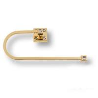 3508-72-003 Держатель для полотенец, латунь с кристаллами Swarovski, цвет - глянцевое золото