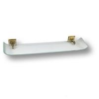 3511-75-013 Полка для ванных аксессуаров,латунь с кристаллами Swarovski, цвет - старая бронза