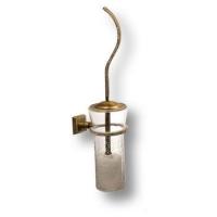 3504-75-013 Ёршик, латунь с кристаллами Swarovski, цвет - старая бронза