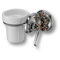PV1609/K Держатель для зуб.щеток, керамика, цвет - старое серебро