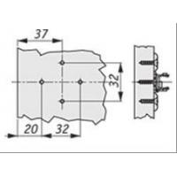 Крестовая ответная планка ECO TIOMOS /евровинт 6.3х13.5 (2 мм)