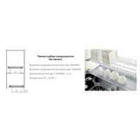 Решетка посудосушителя для чашек в шкаф шириной 900мм, ДСП16/18, хром