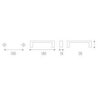 C-985 TL6 Ручка-скоба L=160мм пластиковая под сатин.никель с креп. компл.