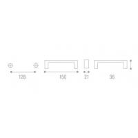 12482.A62P.14M Ручка 128мм античное матовое серебро/белый фарфор