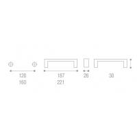 UU40-0160-G0006 Ручка Wave, матовый никель, Gamet