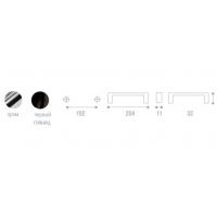WMN.001.160.0002 Ручка метал.L=160мм хром с креп. компл.
