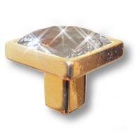 15.320.00.SWA.19 Ручка кнопка с кристаллом Swarovski эксклюзивная коллекция, глянцевое золото 24K