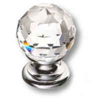 9932-400 Ручка кнопка с кристаллом Swarovski эксклюзивная коллекция, глянцевый хром
