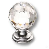 9933-400 Ручка кнопка с кристаллом Swarovski эксклюзивная коллекция, глянцевый хром