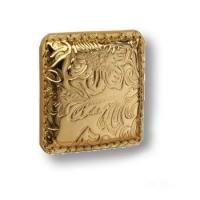 1003.0050.021.174 Ручка кнопка эксклюзивная коллекция, золотая кожа с растительным орнаментом