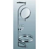 Комплект для ванной, зеркало + 1 полка, стекло, L 800 мм