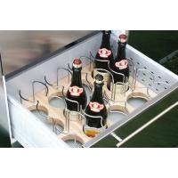 Ёмкость в базу 450, для 12 бутылок (с держателями), бук/хром глянец, для ящика Blum (L=500мм)