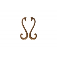 """15065Z096SB.09 Ручка-скоба 96мм (левая), отделка бронза """"Флоренция"""""""