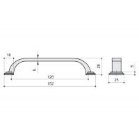 HN-I-3952-128-I Ручка-скоба 128мм, отделка железо