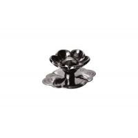 """23806.R50L Ручка-кнопка """"Афина"""" с накладкой, отделка никель чёрный"""