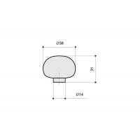 24EM.009037.CA Ручка-кнопка из стекла, отделка фольга серебро