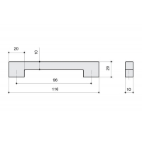 F102/D-CM Ручка-скоба 96мм, отделка сталь шлифованная