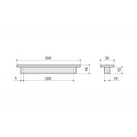 F108/H-CM Ручка-скоба 280мм, отделка сталь шлифованная