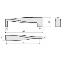 F118/E-CR Ручка-скоба 128мм, отделка хром глянец