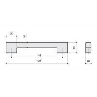 F102/E-CM Ручка-скоба 128мм, отделка сталь шлифованная