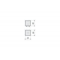 F514-CR Ручка-кнопка, отделка хром глянец