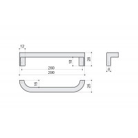 F121/H-CR Ручка-скоба 280мм, отделка хром глянец