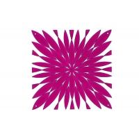 Комплект декоративных панелей DAISY 254х254мм (6 штук), отделка розовая